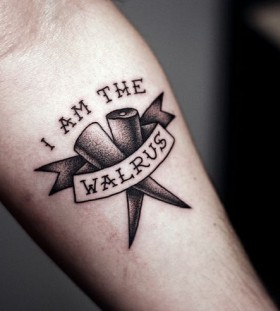 Walrus black Beatles tattoo