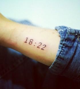 Wedding style date tattoo on arm