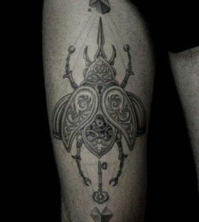 White and black insect Ilya Brezinski tattoo