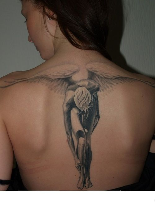 Cool looking angels tattoos