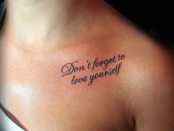 Women\'s shoulder quote tattoo - | TattooMagz › Tattoo ...