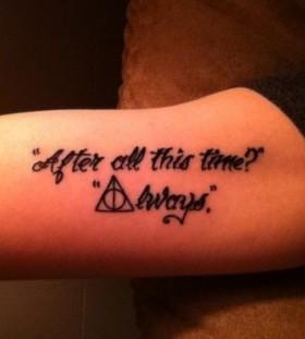 Wonderful quote accio tattoo