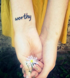 Worthy flower and girls tattoos