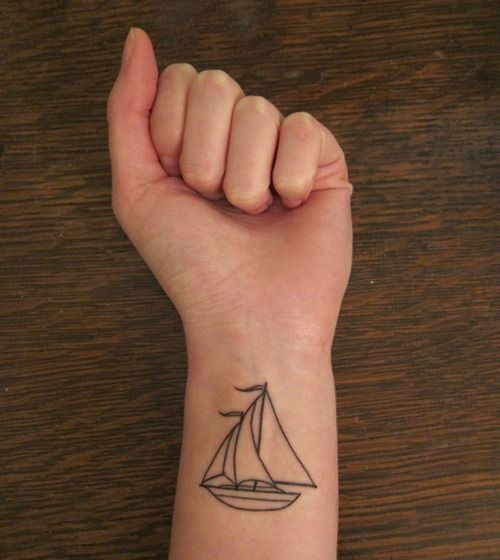 Stunning black ship tattoos