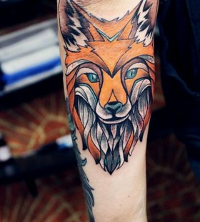 Great looking fox tattoo