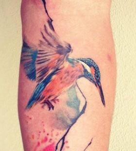 Incredible bird's animal tattoo