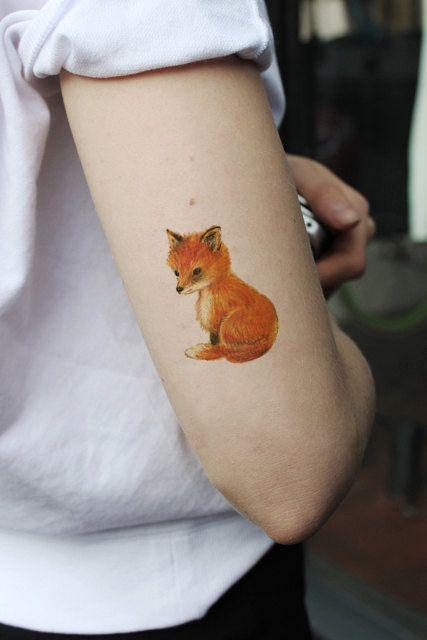 Orange Small Fox Tattoo Tattoomagz Tattoo Designs Ink Works