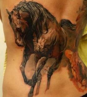 Adorable horse tattoo by Tattoo da Semana
