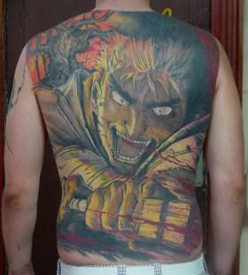 Back comics style tattoo by Tattoo da Semana