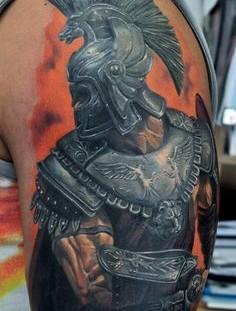 Black soldier tattoo by Tattoo da Semana