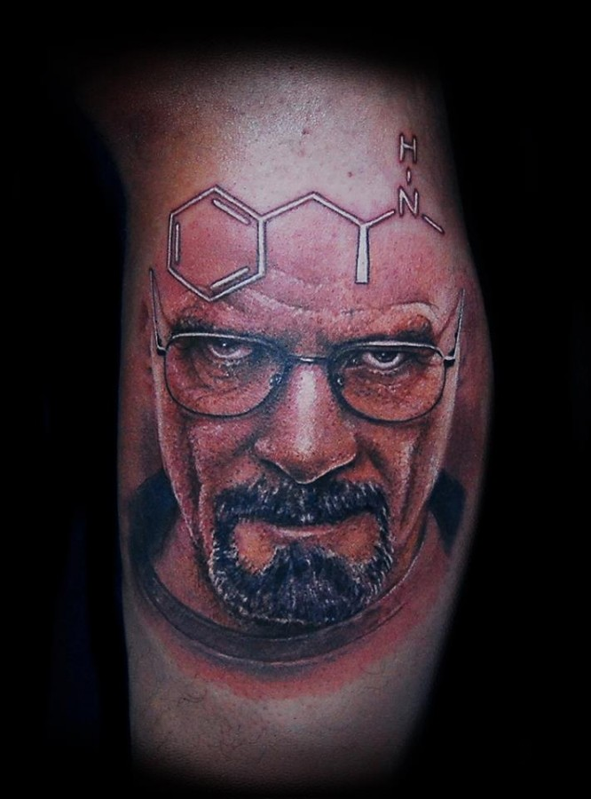 Amazing breaking bad tattoo