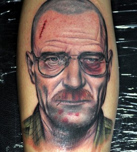 Beated Walter White tattoo