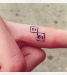 Breaking bad tattoo on finger