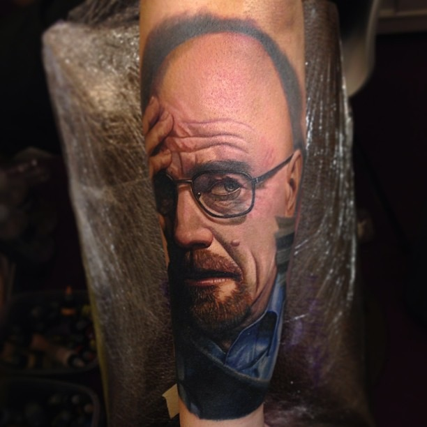Confused Walter White tattoo