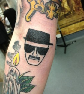 Heisenberg tattoo on arm