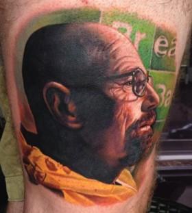 Realistic Walter tattoo