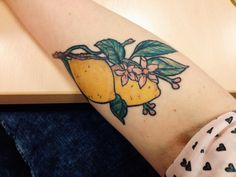 Beautiful lemon tattoo