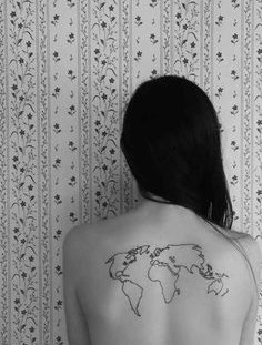 Earth tattoo on back