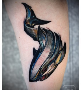 Gorgeous looking tattoo by Love Hawk