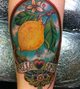 Hello lemon tattoo