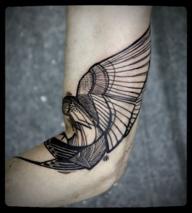 Lines and ornament's tattoo by Love Hawk