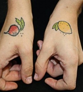 Radish and lemon tattoo