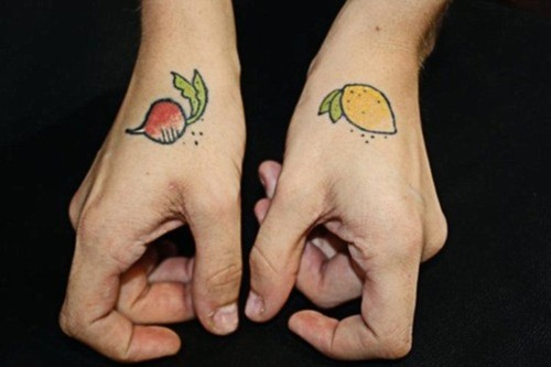 Radish and lemon tattoo