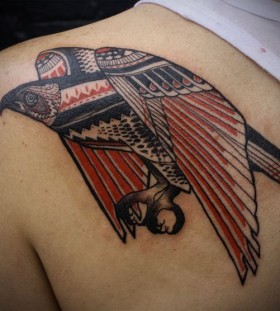 Red eagle tattoo by Love Hawk