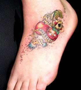 Games and foot cherry tattoo