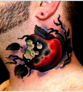 Stunning man apple tattoo