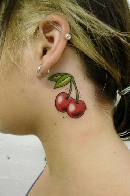 Lovely cherries tattoos