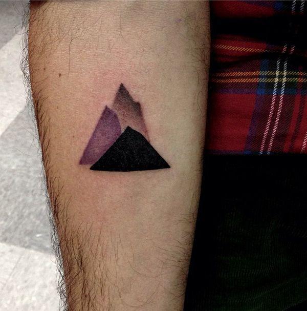 Black and purple Los Angeles style tattoo