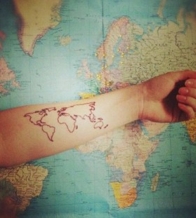 Cool looking map tattoo