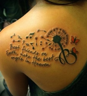 Cool quote's music note tattoo