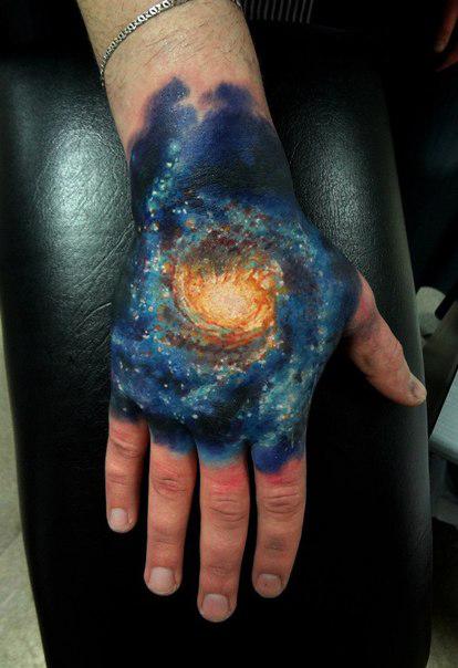 Galaxy Tattoo full hand