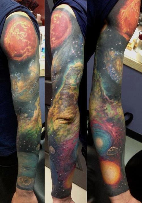 Galaxy Tattoo  full sleeve