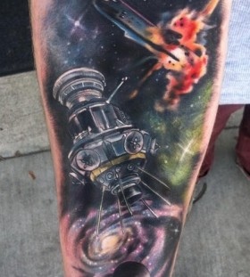 Galaxy Tattoo old fashion