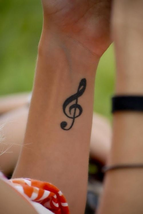 Music notes tattoos