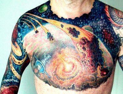 full front Galaxy Tattoo