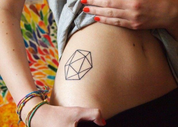 Flawless cool body geometric tattoo