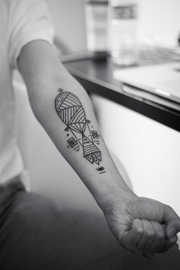 Graphically gorgeous geometric tattoo