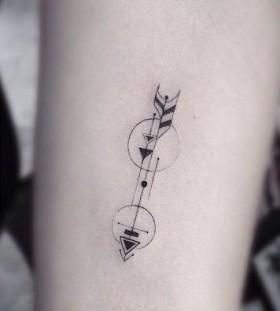 Lovely small geometric tattoo