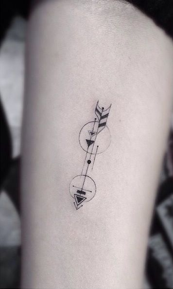 Lovely small geometric tattoo