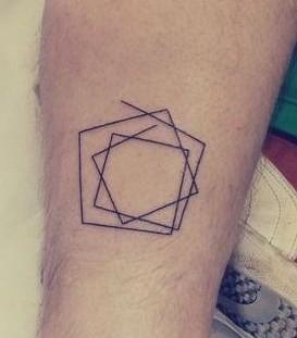 Minimalistic style geometric tattoo