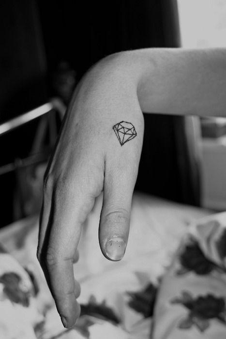 Small diamond geometric tattoo