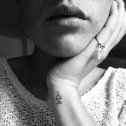 Black lines tattoos
