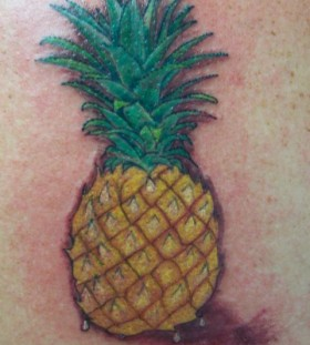 Amazing pineapple tattoo