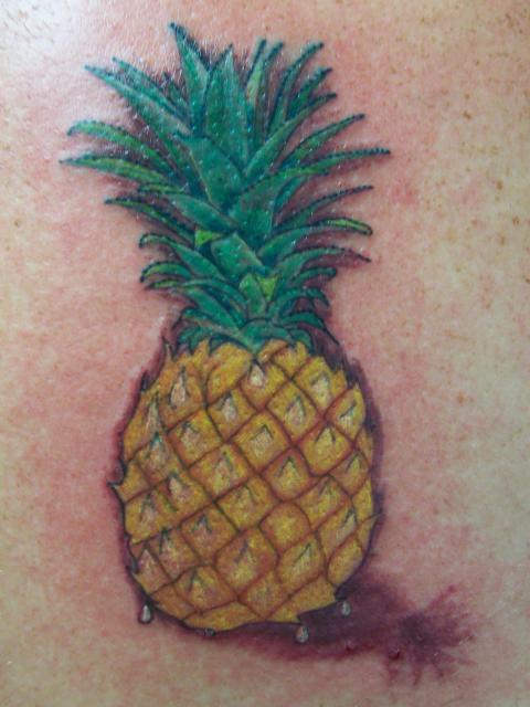 Amazing pineapple tattoo