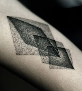 Cool black minimalistic style tattoo