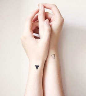 Geometric forms minimalistic style tattoo